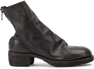 Guidi soft zipped ankle boots