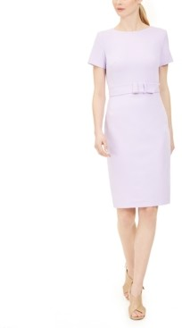 Calvin Klein Petite Belted Sheath Dress