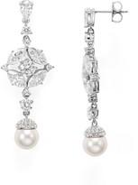 Nadri Pavé & Faux Pearl Drop Earrings