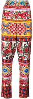 Dolce & Gabbana Mambo print trousers - women - Silk - 36