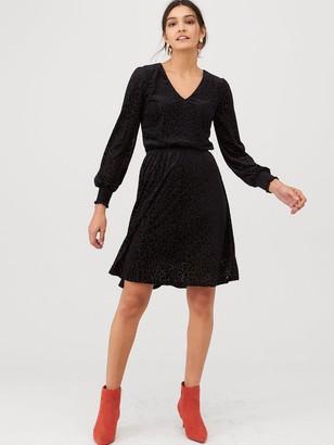 Very Burn Out Jersey Mini Dress - Black