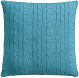 Izod Cable Knit Quiet Shade Square Throw Pillow in Teal