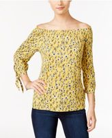 Style&Co. Style & Co Petite Off-The-Shoulder Printed Top, Only at Macy's