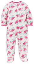 Little Me Infant Girls' Rose Print Footie - Sizes 12-24 Months