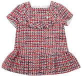 Pili Carrera Short-Sleeve Tweed Dress w/ Fringe, Size 12M-6T