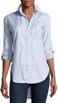 Frank And Eileen Grayson Button-Down Italian Twill Shirt, Blue