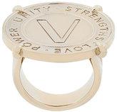Versace embossed V ring