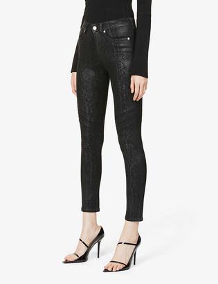 Redemption Snakeskin-print skinny high-rise organic cotton-blend jeans