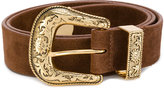 B-Low the Belt gold-tone buckle belt