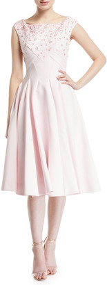 Zac Posen Embroidered Square-Neck Dress