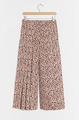 Maeve Isobel Pleated Wide-Leg Trousers