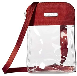 Baggallini Legacy Stadium Bags Clear Bryant Crossbody (Dark Blue) Cross Body Handbags