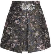 Zimmermann Pleated Jacquard Mini Skirt