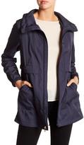 Cole Haan Detachable Hood Long Sleeve Rain Jacket