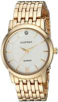 Ellen Tracy Women's Quartz Metal and Alloy Casual Watch, Color:White (Model: ET5292GD)
