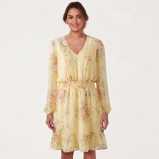 Lauren Conrad Petite Floral Flounce-Hem Dress