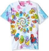 Liquid Blue Men's Light Fantasy Spiral Mushrooms Short Sleeve Tie Dye T-Shirt
