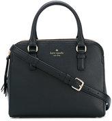 Kate Spade logo print satchel bag - women - Calf Leather/Polyester - One Size