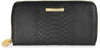 GiGi New York Large Zip-Around Python-Embossed Leather Wallet