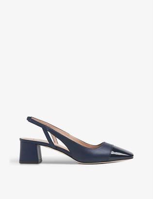 LK Bennett Hattie leather block heel courts