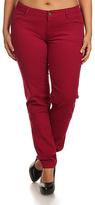 Burgundy Five-Pocket Skinny Pants - Plus Too