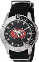 Game Time Men's NFL-STA-SF Starter Analog Display Japanese Quartz Black Watch