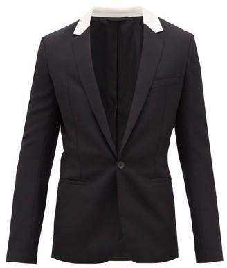 Haider Ackermann Cummerbund Silk-collar Wool-twill Blazer - Mens - Black