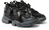 Vetements - + Reebok Genetically Modified Pump Suede And Leather Sneakers