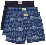 Lucky Brand Woven Boxers - Pack of 3 - Size Small