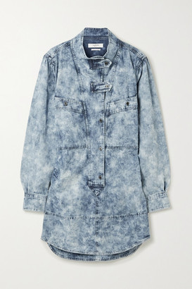 Etoile Isabel Marant Inaroa Acid-wash Denim Mini Dress - Blue