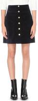 Mo&Co. High-rise velvet mini skirt