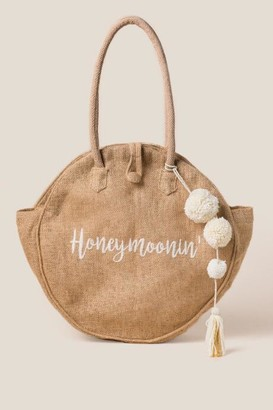 francesca's Honeymoonin' Round Tote - Natural