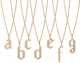 Bridget King Jewelry 14k Diamond Alphabet Necklace