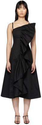 Edit SSENSE Exclusive Black Tuck Frill Dress