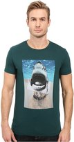 HUGO BOSS BOSS Orange Men's Treyno 1 Shark Dog Pima Cotton T-Shirt T-Shirt LG