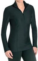 SnowAngel Snow Angel Doeskin Diamond Essential Base Layer Top - Zip Neck, Long Sleeve (For Women)