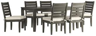 HomeVance Outdoor HomeVance Glen View Patio Dining Table & Armless Chair 7-piece Set