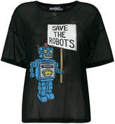 Jeremy Scott Save The Roots sheer T-shirt