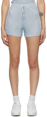 Calle Del Mar Blue Ribbed Shorts