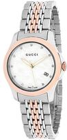 Gucci Timeless Collection YA126514 Women's Stainless Steel Watch with Crystal Accents
