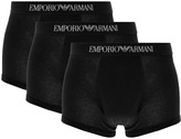 Giorgio Armani Emporio Underwear 3 Pack Trunks Black