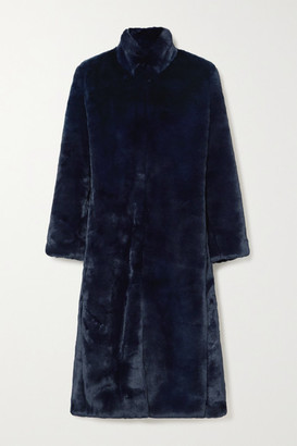Cefinn Carly Faux Fur Coat - Navy