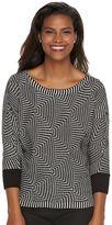 Dana Buchman Women's Textured Boatneck Sweater
