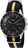Fossil Men's FS5292 Sport 54 Three-Hand Day-Date Striped Polyester Watch