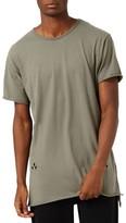 Topman Men's Distressed Longline T-Shirt