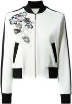 Elie Saab flowers bomber jacket - women - Silk/Polyester/Spandex/Elastane/Polyimide - 38