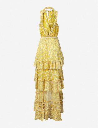 Diane von Furstenberg Carissa leopard-print silk maxi dress