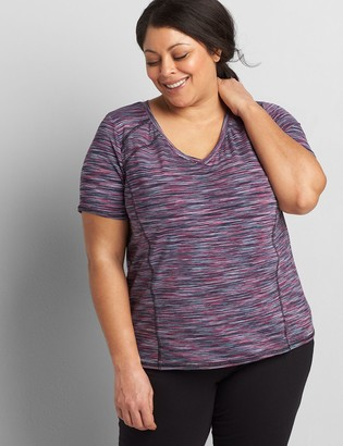 Lane Bryant Wicking Active Tee - Spacedye