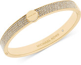 Michael Kors Logo Disc Pavé Hinge Bangle