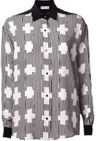 Jeremy Laing striped cross pattern shirt